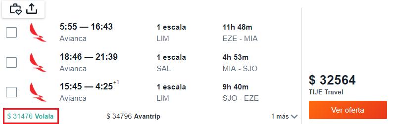 Miami San José desde Bs As