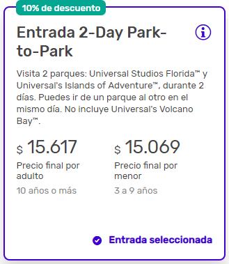 descuento en tickets de Universal Orlando